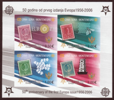 Montenegro 2006 Europa CEPT 50 Years Anniversary Bee Birds, IMPERFORATED Block Type II Without Numeration, MNH - 2006