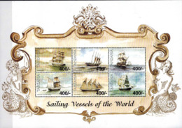 MVS-BK1-702 MINT ¤ TANZANIA 1999 6w In Serie ¤ VOILIERS - ZEILSCHEPEN - BOATS AND SHIPS AROUND THE WORLD - Maritiem