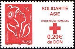 France Marianne De Lamouche N° 3745 ** Solidarité Asie - 2004-08 Marianne (Lamouche)
