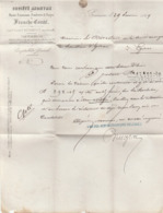 Doubs - Besançon - SA Des Hauts Fourneaux Fonderies Et Forges De Franche Comté - 1869 - France