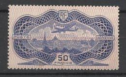 France Poste Aérienne N°15  Burelé 50F Neuf * * TB Gomme D'origine MNH VF ... Soldé à  Moins De 15 % - 1927-1959 Mint/hinged