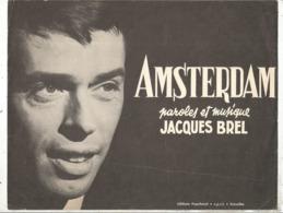 Partition Musicale Ancienne  , JACQUES BREL , AMSTERDAM , Frais Fr 1.85e - Partitions Musicales Anciennes