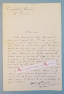 L.A.S Marquis De CROIZIER (à Identifier) - Consulat Royal De Grèce - Coup De Feu - Lettre Autographe Greece LAS - Autographes