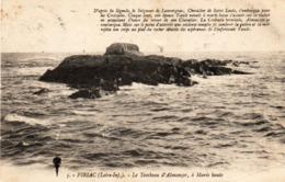 Carte De Piriac Sur Mer (Le Tombeau D'Almanzor) Au Verso Taxe + Convoyeur Ligne - Piriac Sur Mer