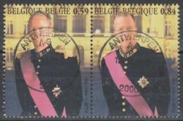 3202/3203 Hommage Et Rois Badouin & Albert2 Oblit/gestp Centrale - Belgique