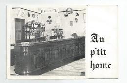 Cdv Carte De Visite Au P'tit Home Café Bar Coutances 10 Rue Beuve 50 Manche Vue Double Différente 8,5x13 Cm - Cartes De Visite