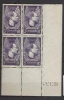 CD 338 FRANCE 1938 COIN DATE 338 : 7 / 1 / 38 AVIATEUR JEAN MERMOZ 1901 1936 ET SES COMPAGNONS DE L HYDRAVION CROIX DU - Ecken (Datum)