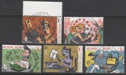 3710/3714 Fété Du Timbre/feest V/d Postzegel Oblit/gestp Centrale - Belgique