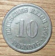 N°8 MONNAIE ALLEMANDE 10 PFENNIG 1904A - 10 Pfennig