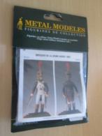 Figurine Métal TOP QUALITE à Monter Et Peindre METAL MODELES 54mm, OFFICIER JEUNE GARDE 1809 Vaut 23 € En Magasin - Small Figures