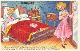 Pinup Pin Up Femme Sein Nu Seins Nus , Ne T' Impatiente Pas Mon Coco Le Medecin Vient De Me Dire... Consolation - Pin-Ups