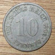 N°10 MONNAIE ALLEMANDE 10 PFENNIG 1906A - 10 Pfennig