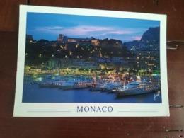 Monaco - Vue Générale Du Palais Princier Et Du Port De Monaco à La Tombée De La Nuit - Monaco