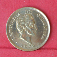 COLOMBIA 25 CENTAVOS 1979 -    KM# 246,2 - (Nº30962) - Colombia