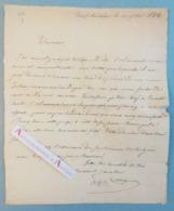 L.A.S 1842 + Poème Autographe Alphonse COLLIGNON - Neufchateau Epinal Strasbourg - Olincourt - Lettre Poésie - Belgique - Autographes