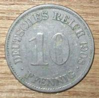 N°13 MONNAIE ALLEMANDE 10 PFENNIG 1908A - 10 Pfennig