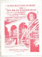 Partition Musicale Ancienne  , LE PLUS BEAU TANGO DU MONDE ,tango , Vincent Scotto , Frais Fr 1.85e - Partituren