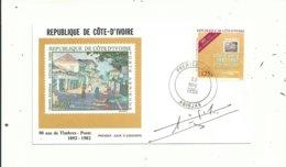 1 Premier Jour De Cote D' Ivoire...+   Le Livre Représenté Sur Le Timbre....signés Par L'auteur......à Voir..... - Ivoorkust (1960-...)
