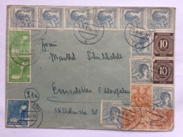 GERMANY 1948 Allied Cover Epe Postmarks Multi-stamped - Gemeinschaftsausgaben