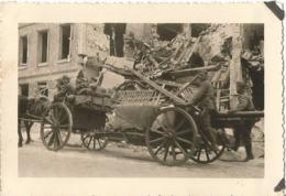 PONT-ST-MAXENCE (OISE ) 1940 Photo Werhmacht WW2 ,  Convoi Allemand Dans PONT-ST-MAXENCE - 1939-45
