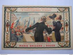 C.P.A- Anisette Extra-Dry Marie Brizard & Roger - Grand Café Restaurant B.Pinard Propriétaire St Nazaire (44) - SPL (23) - Publicidad