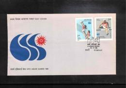 India 1986 Volleyball + Athletics FDC - Voleibol