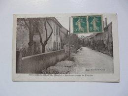 CPA 25 DOUBS - FESCHES LE CHATEL : Ancienne Route De Fesches - France