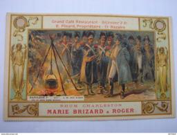 C.P.A.- Rhum Charleston Marie Brizard & Roger - Grand Café Restaurant B.Pinard Propriétaire St Nazaire (44) - SPL (24) - Publicidad