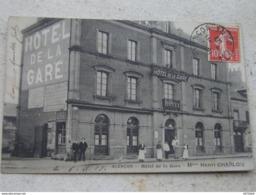 C.P.A.Photo Identifiée - Alençon (61) - Hôtel De La Gare - Maison Henri Charlon - 1909 - SUP (37) - Hotels & Restaurants
