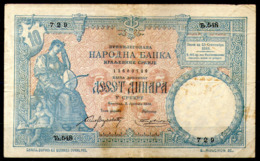 Serbia,1893,10 Dinara,as Scan - Serbien