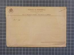 Cx 9) Portugal Envelope VIDAL & FONSECA SUCCESSORES DE M. FRITZ Fornecedores Da Casa Real Lisboa Calçada Do Combro - Portugal