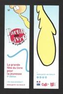 Marque Page.  Partir En Livre, La Fête Du Livre Pour La Jeunesse.   Titeuf.    Bookmark. - Bladwijzers