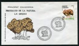 SALE  Andorra 1985 Mi 184 Mushroom FDC - Pilze