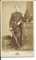 Soldat Du 92° Regiment- Le Mans-photo Gustave-6cm Sur 10,50cm - Guerre, Militaire