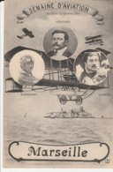 CPA  13 MARSEILLE SEMAINE D'AVIATION 1911 VEDRINES AUDEMARS GARROS - Marsiglia