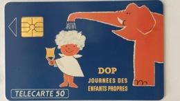 Télécarte - DOP Journée Des Enfants Propres- 50 Unités - 2500 Ex. - Publicité