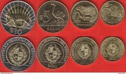 Uruguay Set Of 4 Coins: 1 - 10 Pesos 2011-2012 UNC - Uruguay