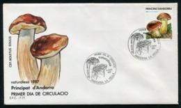 SALE  Andorra 1987 Mi 197 Mushroom FDC - Pilze