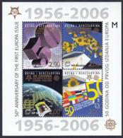Bosnia Croatia 2006  50 Years Anniversary Europa CEPT Flags, Block Souvenir Sheet MNH - 2006