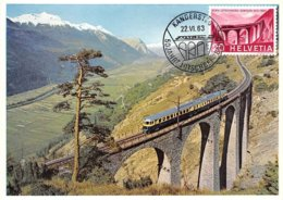 1963 .carte Maximum .suisse .102842 .bern Lotschberg Simplon .cachet Bern . - Maximum Cards