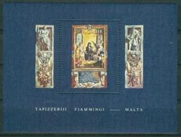 BM Malta 1980 MiNr Block 6 (609) MNH | Flemish Tapestries, Grand Master Perelles With St. Jude And St. Simon - Malte