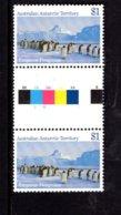 837802837 1984-87 SCOTT L74 POSTFRIS MINT NEVER HINGED EINWANDFREI (XX)  GUTTERPAIR EMPEROR PENGUINS AUSTER ROOKERY - Neufs