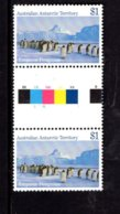 837802837 1984-87 SCOTT L74 POSTFRIS MINT NEVER HINGED EINWANDFREI (XX)  GUTTERPAIR EMPEROR PENGUINS AUSTER ROOKERY - Territoire Antarctique Australien (AAT)