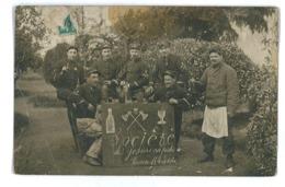 CARTE-PHOTO MILITAIRES SOCIETE DES GOSIERS RAPIDES Col N°77 - Guerra 1914-18