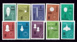 Poland 1178-87 MNH 1963 Conquest Of Space - Unclassified