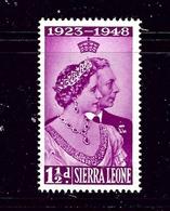 Sierra Leone 188 MNH 1948 Low Value Of KGVI Silver Wedding - Unclassified