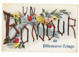 VILLENEUVE TRIAGE (94) Carte Fantaisie Bonjour De - Villeneuve Saint Georges