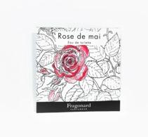 échantillons De Parfum  POCHETTE  ROSE De MAI    De  FRAGONARD  EDT   2 Ml - Echantillons (tubes Sur Carte)