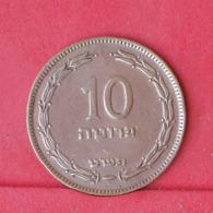ISRAEL 10 PRUTA 1949 - *WITH PEARL*   KM# 11 - (Nº30972) - Israël
