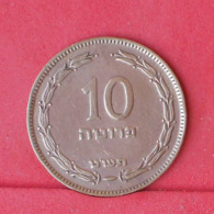 ISRAEL 10 PRUTA 1949 - *WITH PEARL*   KM# 11 - (Nº30972) - Israel